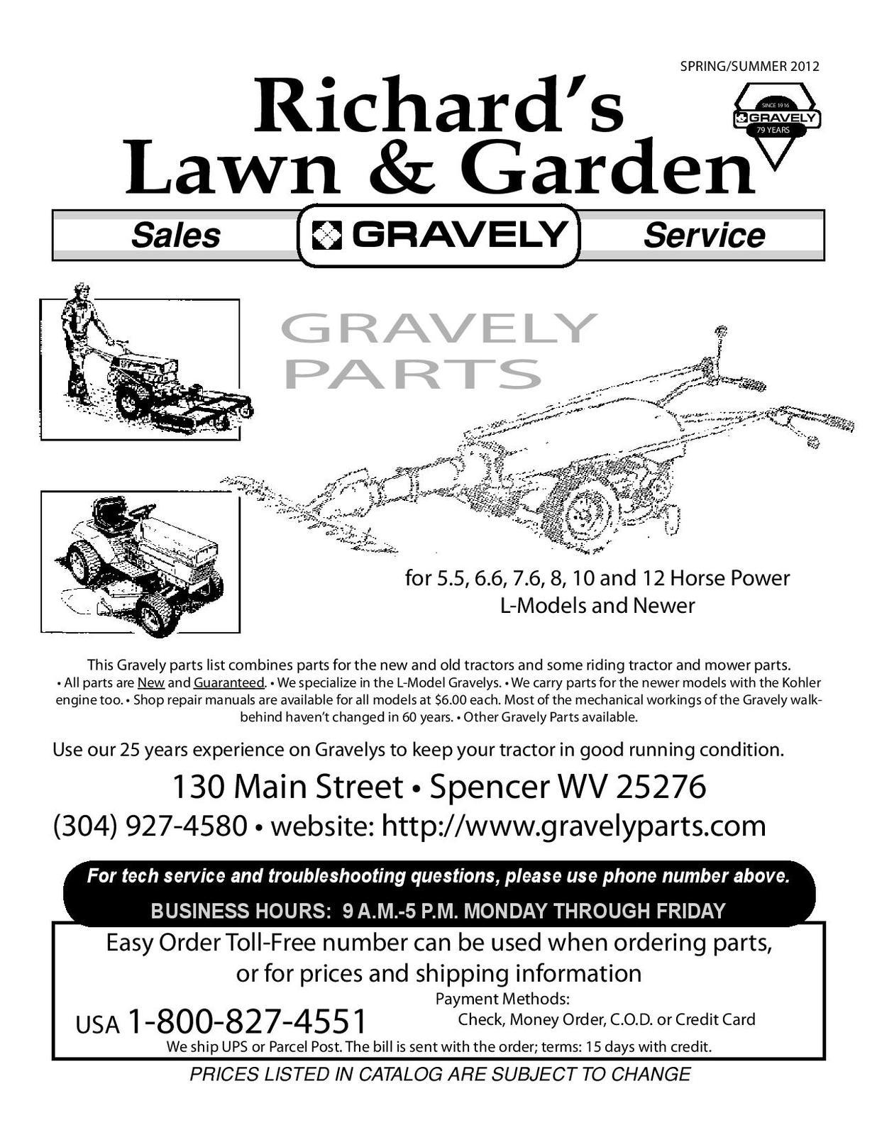 gravely 40 pro parts manual