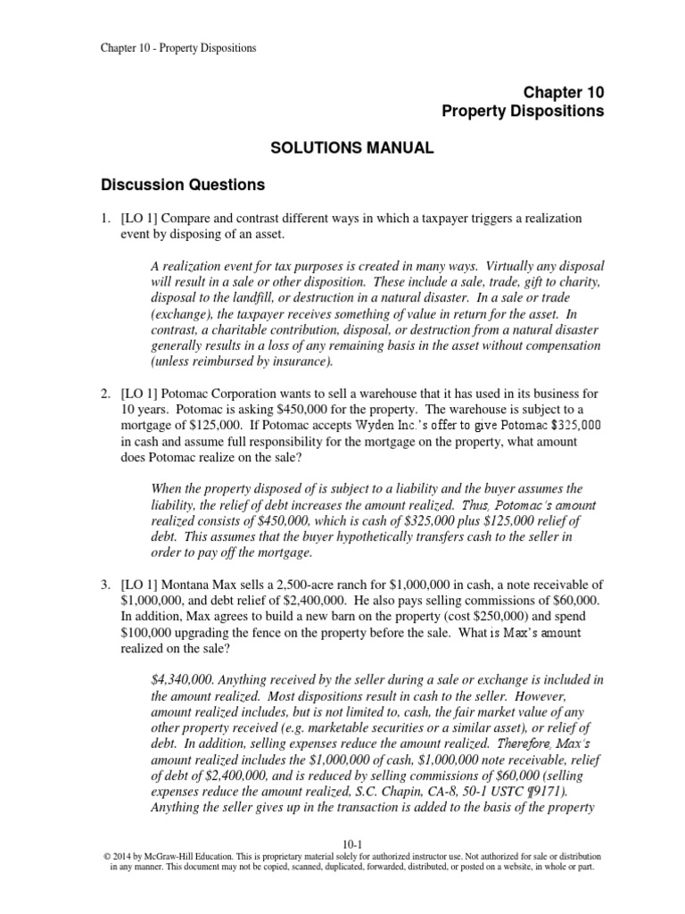 taxation of individuals solutions manual chapter 8