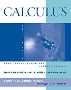 calculus by anton solution manual