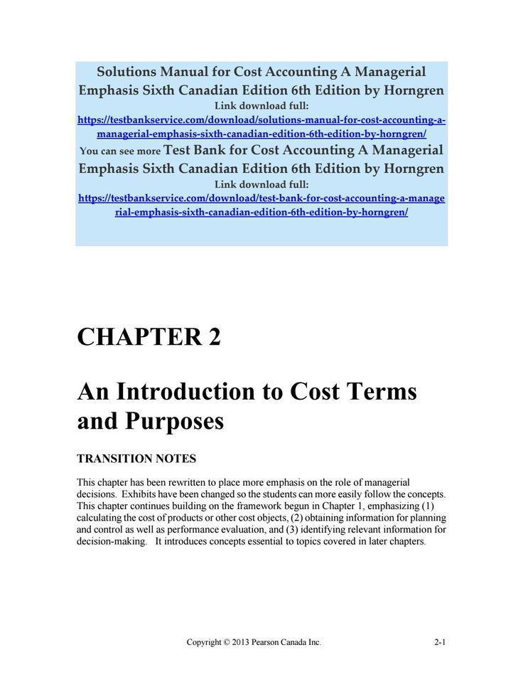 cost accounting a managerial emphasis 7th edition solution manual
