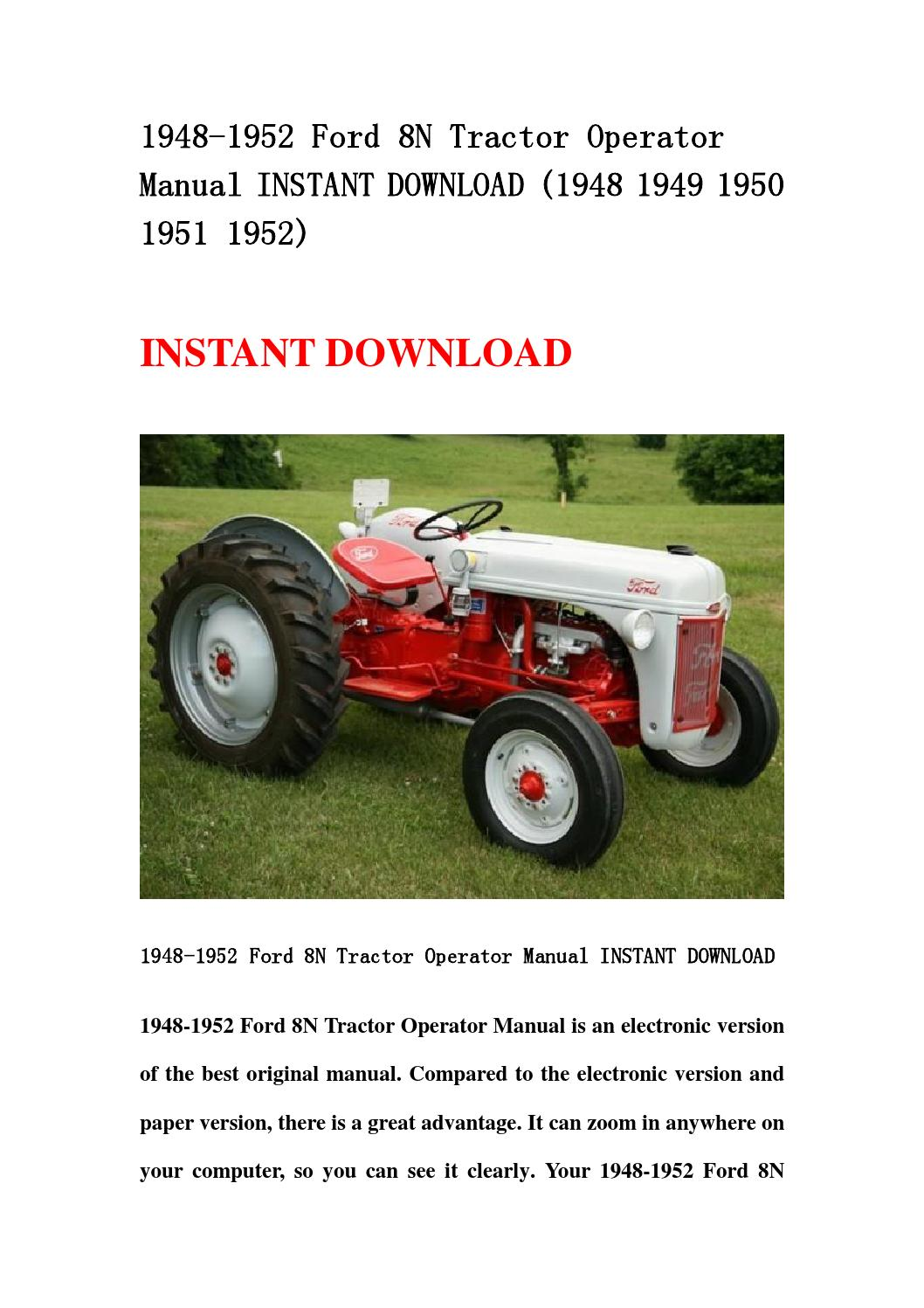 ford tractor parts manual download