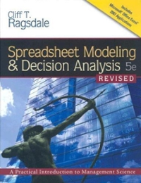 spreadsheet modeling and decision analysis edition 6 solutions manual