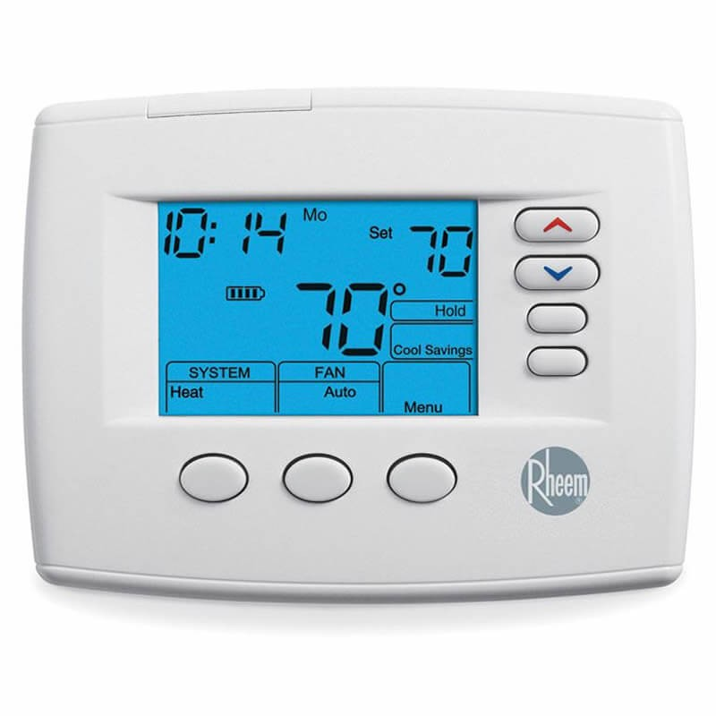 thermostat 7 day programmable stages 3 heat 2 cool manual